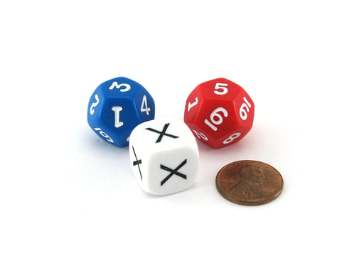 Pack of 3 Intermediate Multiplication Math Dice Kit