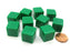 Set of 10 D6 16mm Blank Opaque Dice - Green