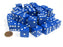 Set of 50 Large 19mm D6 Opaque Dice (Over 1 Pound of Dice) - Blue w/ White Pip