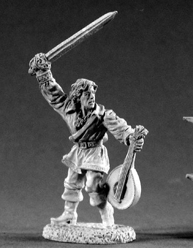 Reaper Miniatures Alfred Redlute Bard 02186 Dark Heaven Legends Unpainted Metal