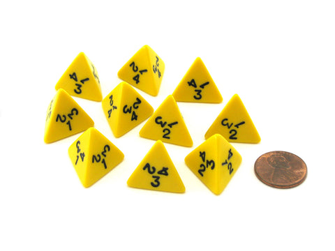 Pack of 10 Deluxe Round Edge Small 12mm Marble D6 Dice Gold