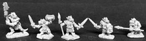 Reaper Miniatures Kobold Raiders (5) #02470 Dark Heaven Legends Unpainted Metal