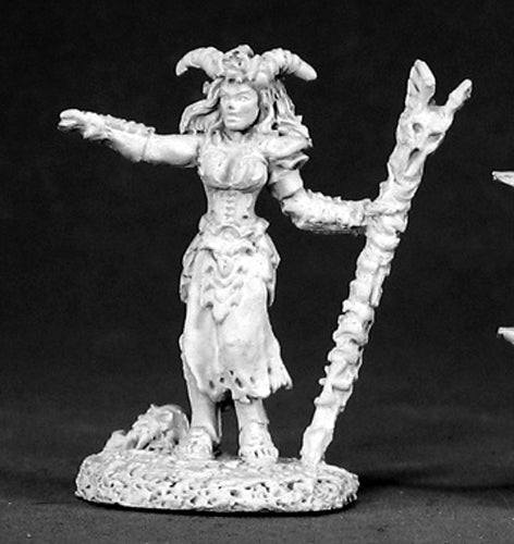 Reaper Miniatures Bria, Dark Necromancer #02504 Dark Heaven Unpainted Metal