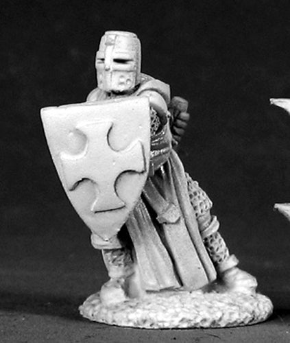 Reaper Miniatures Templar Knight #02513 Dark Heaven Legends Unpainted Metal