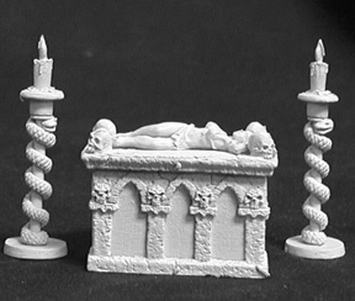 Reaper Miniatures Altar Of Evil with Vic #02580 Dark Heaven Unpainted Metal