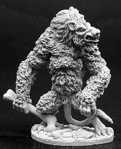 Reaper Miniatures Skrattle, Giant Ratman #02761 Dark Heaven Unpainted Metal
