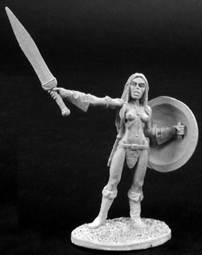 Reaper Miniatures Tana, Female Barbarian #02773 Dark Heaven Unpainted Metal