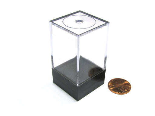 "Plastic Figure and Dice Small Display Box - 1"" W x 1"" W x 2"" T"