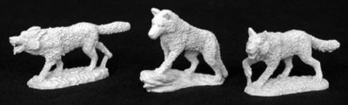 Reaper Miniatures Wolf Pack (3 Pieces) #02830 Dark Heaven Unpainted Metal