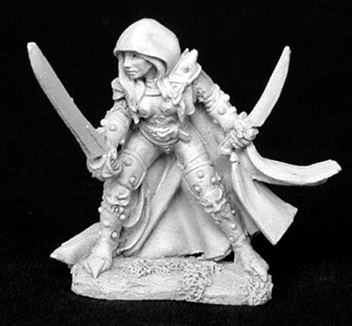 Reaper Miniatures Deladrin, Assassin #02834 Dark Heaven Legends Unpainted Metal