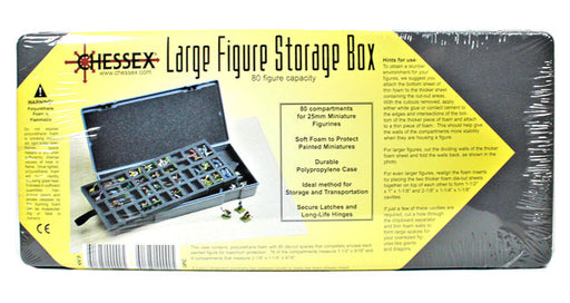 Chessex Large Figure Storage Box and Carrying Case - 80 Miniatures Capacity