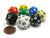 Set of 8 Assorted Colors Twenty Sided 19mm D20 Opaque Dice for RPG D&D