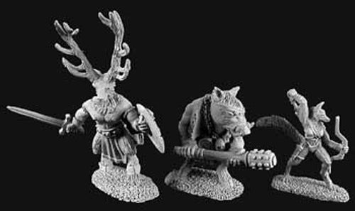 Reaper Miniatures Beastmen Of the Wyld #02900 Dark Heaven Unpainted Metal