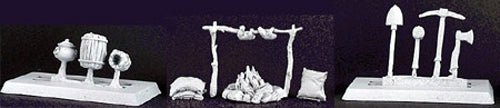 Reaper Miniatures Adventuring Accessories II #02963 (13 Pieces) Unpainted Metal