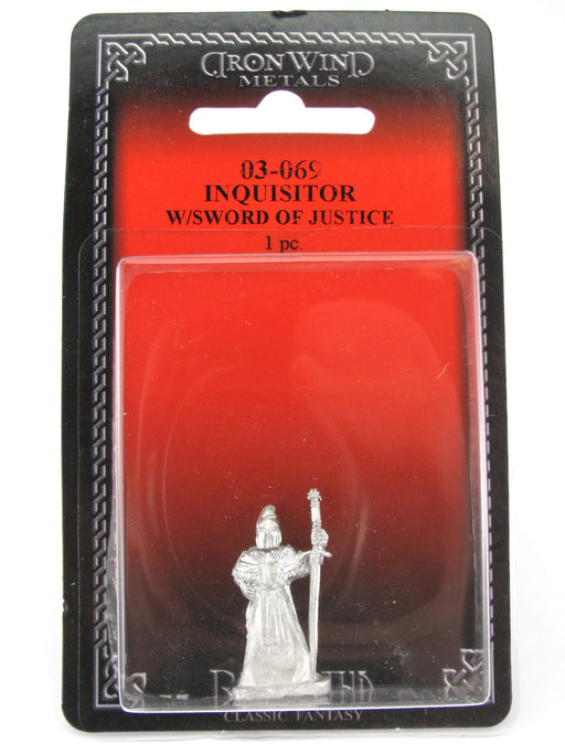 Inquisitor with Sword of Justice #03-069 Classic Ral Partha Fantasy Metal Figure