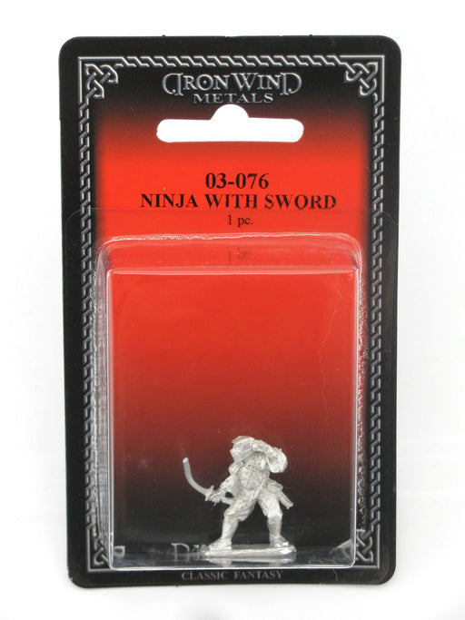 Ninja Assassin with Sword #03-076 Classic Ral Partha Fantasy RPG Metal Figure