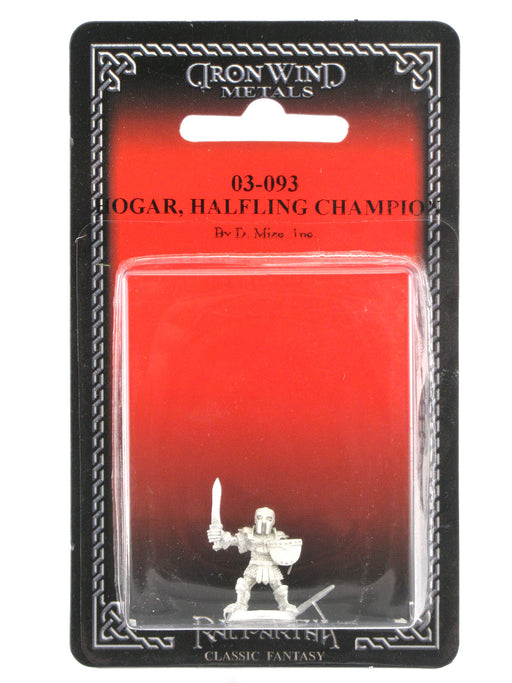 Hogar Armored Halfling Champion #03-093 Classic Ral Partha Fantasy Metal Figure