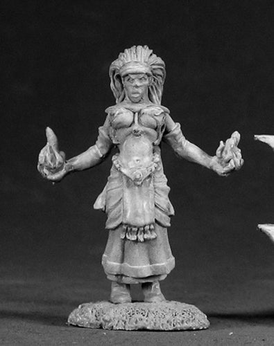 Reaper Miniatures Ava, Female Wizard #03034 Dark Heaven Legends Unpainted Metal