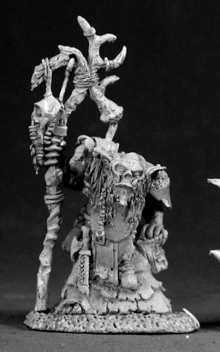 Reaper Miniatures Surkar, Orc Shaman #03043 Dark Heaven Legends Unpainted Metal