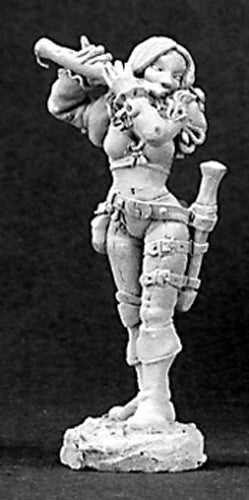 Reaper Miniatures Anwyn, Female Bard #03080 Dark Heaven Legends Unpainted Metal