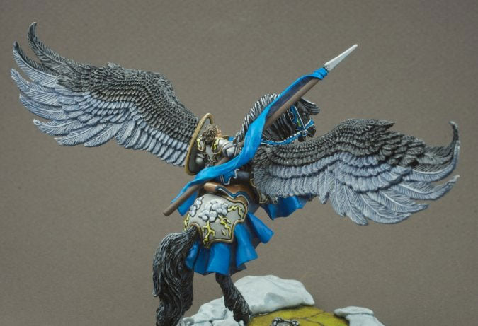 Reaper Miniature Unpainted Barros & Tempest Paladin on Pegasus 03096 Dark Heaven