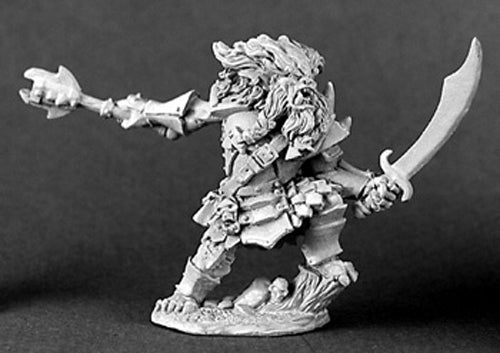Reaper Miniatures Gronk Spliteye Bugbear Hero 03101 Dark Heaven Unpainted Metal
