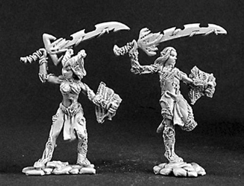 Reaper Miniatures Fallen Elves (2 Pieces) #03127 Dark Heaven Unpainted Metal