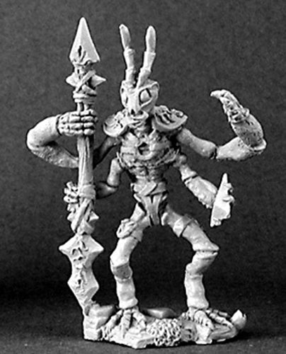 Reaper Miniatures Zizzix, Mantis Warrior #03142 Dark Heaven Unpainted Metal