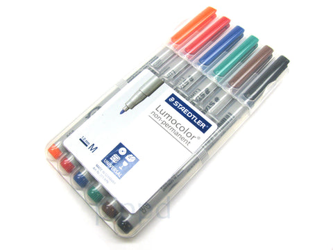 6-Pack Mat Marking Pen: Staedtler Lumocolor Non-Permanent Water Soluble Markers