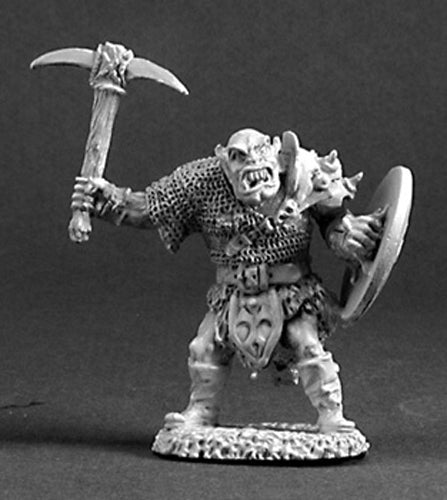 Reaper Miniatures Orc Warrior #03219 Dark Heaven Legends Unpainted Metal Figure