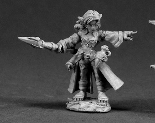 Reaper Miniatures Cassie, Female Gnome Wizard 03340 Dark Heaven Unpainted Metal