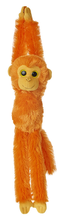 "24"" Aurora World Colorful Hanging Chimp Plush Stuffed Monkey - Bright Orange"
