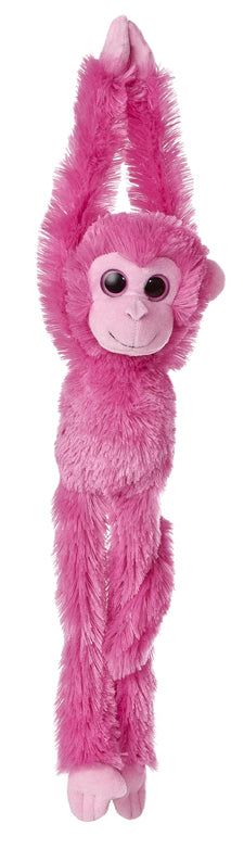 "24"" Aurora World Colorful Hanging Chimp Plush Stuffed Animal Monkey - Hot Pink"