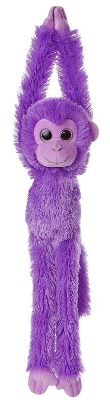 "24"" Aurora World Colorful Hanging Chimp Plush Stuffed Animal Monkey - Purple"