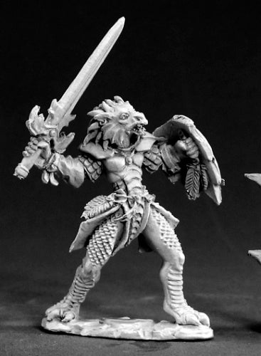 Reaper Miniatures Unpainted Na'Kaat Female 1/2 Dragon Paladin 03403 Dark Heaven