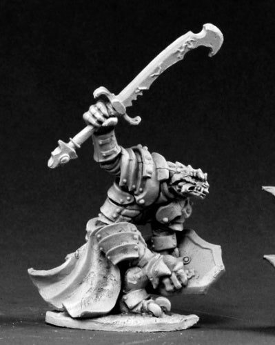 Reaper Miniatures Dragonman Warrior #03436 Dark Heaven Legends Unpainted Metal