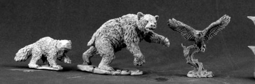 Reaper Miniatures Animal Companions I 03456 Dark Heaven Legends Unpainted Metal