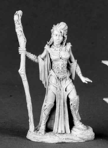 Reaper Miniature Unpainted Autumn Bronzeleaf Female Elf Wizard 03492 Dark Heaven
