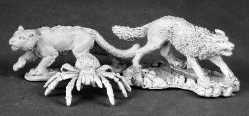 Reaper Miniatures Animal Companions II: Wolf, Cat, Spider 03499 Dark Heaven