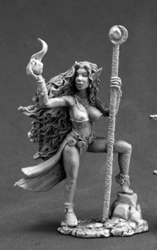Reaper Miniatures Zeldriia, Elf Sorceress #03661 Dark Heaven Unpainted Metal