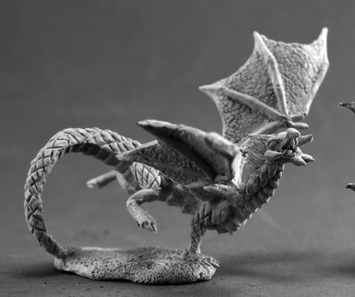 Reaper Miniatures Swamp Dragon Hatchling #03694 Dark Heaven Unpainted Metal
