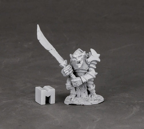 Reaper Miniatures Armored Goblin Leader #03849 Dark Heaven Unpainted Metal