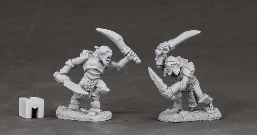 Reaper Miniatures Armored Goblin Swordsmen #03851 Dark Heaven Unpainted Metal