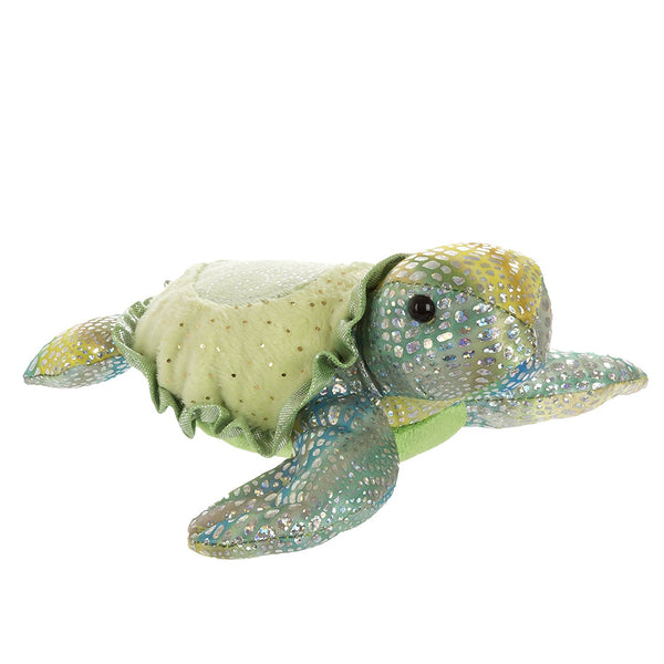 "7"" Tamara Turtle - Small Sea Sparkles Aurora Plush"