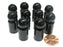Set of 10 Ball Pawns 30mm Peg Pieces for Board Game Play - Black