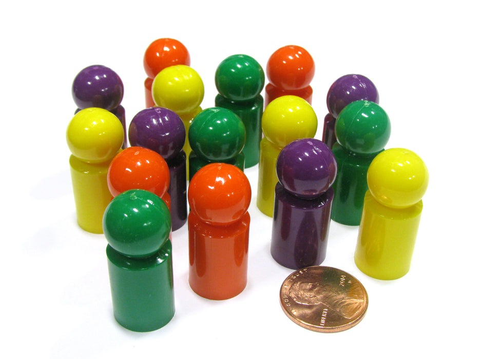 Set of 16 Ball Pawn 30mm - 4 Each of Purple Orange Green Yellow