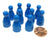 Set of 10 Halma 25mm Pawns Pawn Peg Pegs Board Game Play Pieces - Blue