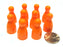 Set of 10 Halma 25mm Pawns Pawn Peg Pegs Board Game Play Pieces - Orange