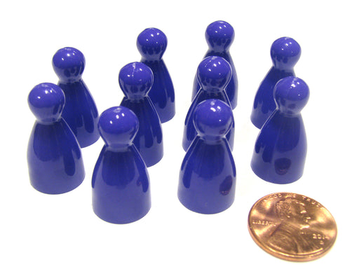 Set of 10 Halma 25mm Pawns Pawn Peg Pegs Board Game Play Pieces - Purple