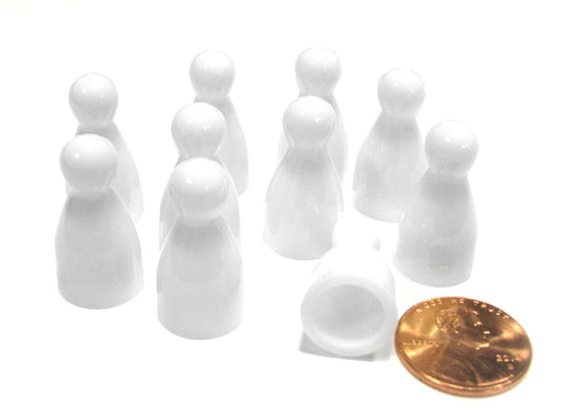 Set of 10 Halma 25mm Pawns Pawn Peg Pegs Board Game Play Pieces - White